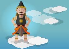 Ilustração do vetor, caráter do fantoche de Gatutkaca Imagem de Stock