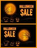 Ilustração do vetor do cartaz da venda de Dia das Bruxas Fotografia de Stock Royalty Free