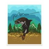 Ilustração do vetor do cartaz/inseto dos peixes do gato ilustração do vetor