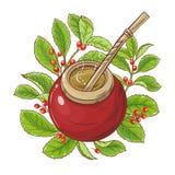 Ilustração do vetor do chá do companheiro ilustração royalty free