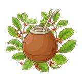 Ilustração do vetor do chá do companheiro ilustração do vetor