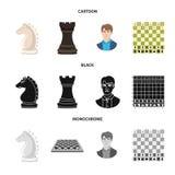 Ilustração do vetor do checkmate e do ícone fino Ajuste do ícone do vetor do checkmate e do alvo para o estoque ilustração stock