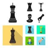 Ilustração do vetor do checkmate e do ícone fino Ajuste do símbolo de ações do checkmate e do alvo para a Web ilustração do vetor