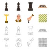 Ilustração do vetor do checkmate e do logotipo fino Ajuste do ícone do vetor do checkmate e do alvo para o estoque ilustração do vetor