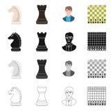 Ilustração do vetor do checkmate e do logotipo fino Coleção da ilustração do vetor do estoque do checkmate e do alvo ilustração royalty free