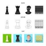 Ilustração do vetor do checkmate e do símbolo fino Ajuste da ilustração do vetor do estoque do checkmate e do alvo ilustração royalty free