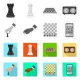 Ilustração do vetor do checkmate e do símbolo fino Ajuste do símbolo de ações do checkmate e do alvo para a Web ilustração royalty free