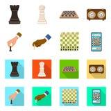 Ilustração do vetor do checkmate e do símbolo fino Coleção do símbolo de ações do checkmate e do alvo para a Web ilustração royalty free