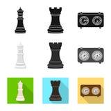 Ilustração do vetor do checkmate e do sinal fino Ajuste do ícone do vetor do checkmate e do alvo para o estoque ilustração stock