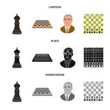 Ilustração do vetor do checkmate e do sinal fino Ajuste do símbolo de ações do checkmate e do alvo para a Web ilustração stock