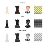 Ilustração do vetor do checkmate e do sinal fino Ajuste do símbolo de ações do checkmate e do alvo para a Web ilustração royalty free