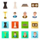 Ilustração do vetor do checkmate e do sinal fino Coleção do símbolo de ações do checkmate e do alvo para a Web ilustração royalty free