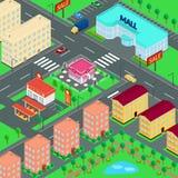 Ilustração do vetor cidade Fotos de Stock