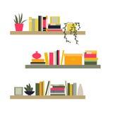 Ilustração do vetor A coleção das estantes Foto de Stock