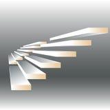 Ilustração do vetor com as escadas no fundo do drey Foto de Stock