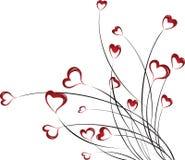 Ilustração do vetor com corações ilustração royalty free