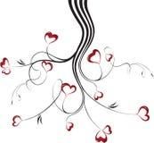 Ilustração do vetor com corações ilustração do vetor