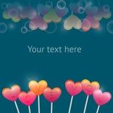 Ilustração do vetor com corações doces dos Valentim Fotografia de Stock