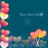 Ilustração do vetor com corações doces dos Valentim Fotografia de Stock Royalty Free