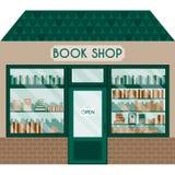 Ilustração do vetor com livrarias Fotografia de Stock Royalty Free