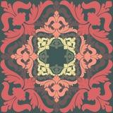 Ilustração do vetor com ornamento barrocos dentro Fotos de Stock Royalty Free