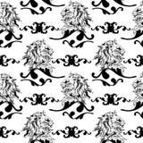 Ilustração do vetor com ornamento barrocos dentro Imagens de Stock Royalty Free