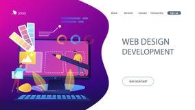 Ilustração do vetor do conceito do desenvolvimento do design web ilustração do vetor
