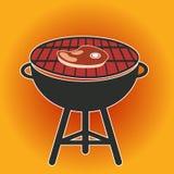 Ilustração do vetor do Cookout do BBQ da grade ilustração stock