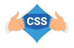 Ilustração do vetor do CSS 3 da camisa da abertura Imagens de Stock