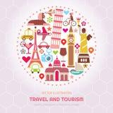 Ilustração do vetor do curso e do turismo ilustração do vetor