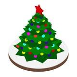 Ilustração do vetor da árvore de Natal Foto de Stock