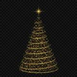 Ilustração do vetor da árvore de Natal Fotos de Stock