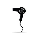 Ilustração do vetor da arte preta de Hairdryer Fotos de Stock