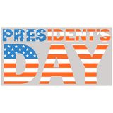 Ilustração do vetor da bandeira dos EUA do dia do presidente lisa Imagens de Stock
