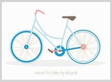 Ilustração do vetor da bicicleta ilustração stock