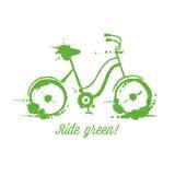 Ilustração do vetor da bicicleta de Eco ilustração do vetor