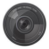 Ilustração do vetor da câmera da foto da lente Foto de Stock Royalty Free