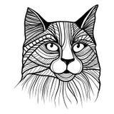 Ilustração do vetor da cabeça do gato Foto de Stock