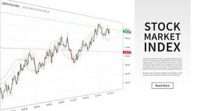Ilustração do vetor da carta do gráfico do castiçal do mercado de valores de ação Fotografia de Stock