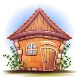 Ilustração do vetor da casa dos desenhos animados Foto de Stock