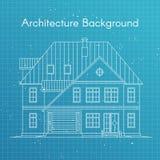 Ilustração do vetor da casa ou da casa de campo da família Modelo da arquitetura Foto de Stock Royalty Free