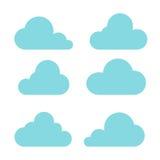 Ilustração do vetor da coleção das nuvens Fotos de Stock Royalty Free
