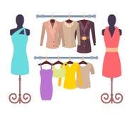 Ilustração do vetor da coleção da roupa de Vogue ilustração royalty free