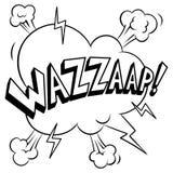 Ilustração do vetor da coloração da palavra de Wazzaap Fotografia de Stock
