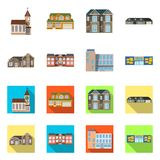Ilustração do vetor da construção e do logotipo dianteiro Coleção do símbolo de ações da construção e do telhado para a Web ilustração stock