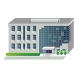 Ilustração do vetor da construção moderna ilustração stock
