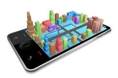 Negócio através do móbil Foto de Stock