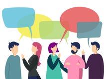 Ilustração do vetor da conversação da equipe dos povos ilustração royalty free