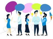 Ilustração do vetor da conversação da equipe dos povos ilustração do vetor