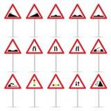 Ilustração do vetor da cor do sinal de estrada Fotos de Stock Royalty Free